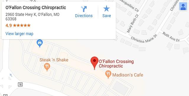 O'Fallon MO Chiropractic Map